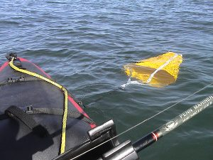 Anchoring a kayak using a drift chute