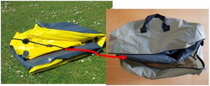 Intex Explorer K2 Portability Folded and Kept In Bag