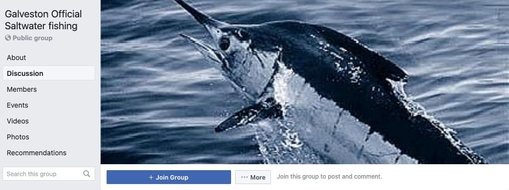 Galveston Official Saltwater fishing Facebook Group