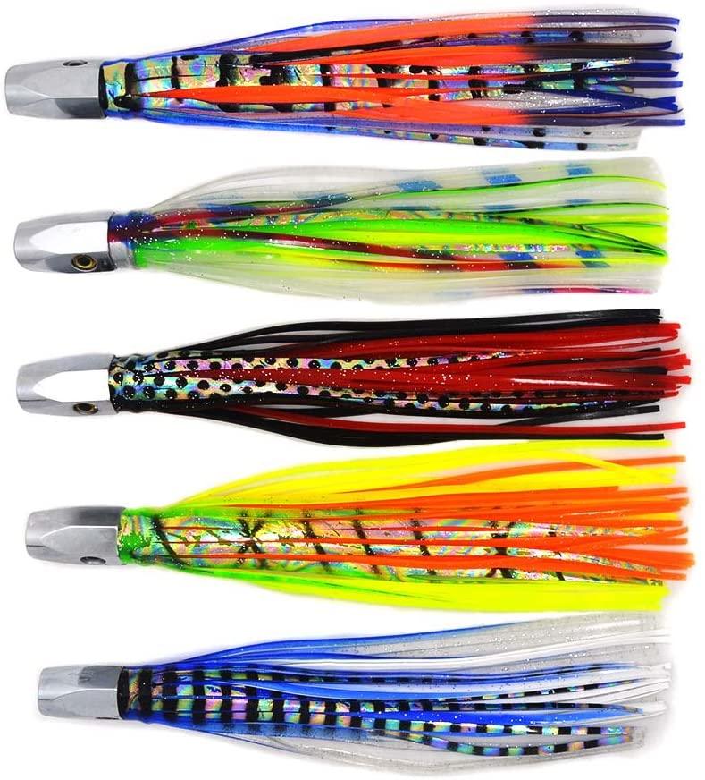 Kmucutie 5 pieces deep sea fishing lures