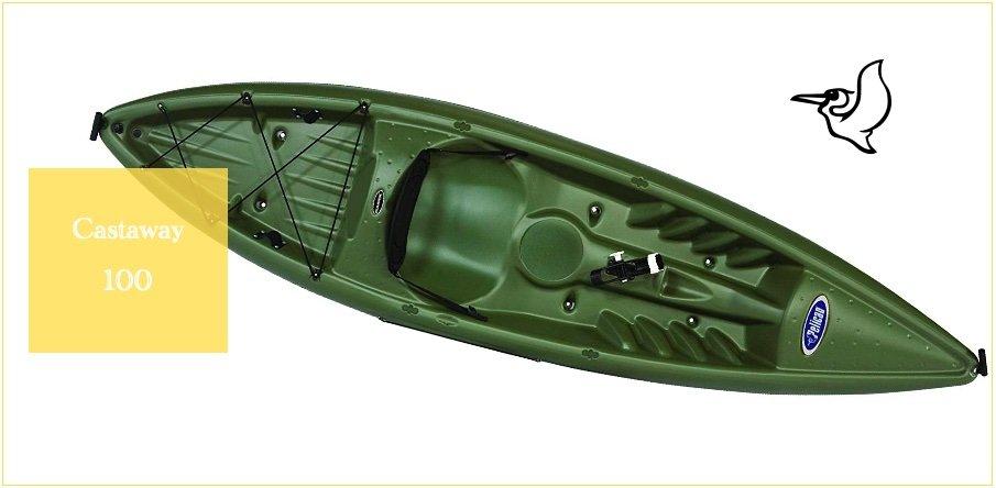 Castaway 100 Pelican Kayak with adjustable seat reviews